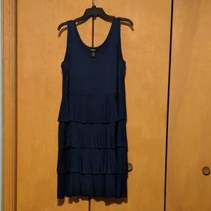 Navy ruffled dress